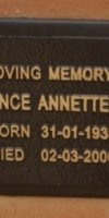 (Annette) Florence Annette Wall.  1935-2006.