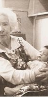 Edith May (Brown) Langdon with great grandchild