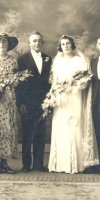 Francis Thomas Ford & Mary Kingston Harcourt Wedding. L-R Caroline May Ford, Francis Thomas Ford, Mary Kingston Harcourt, Unknown