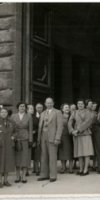Francis & Mary Ford in Florence Italy 1955, (Frank and Mary standing in front row, left 4th & 5th)