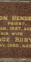 Vernon Henderson Williams. 1896-1980. Florence Ruby (Ford) Williams. 1899-1980.