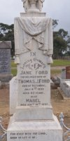 Jane Ford  1856-1898.  Mabel Ford. 1897-1897.